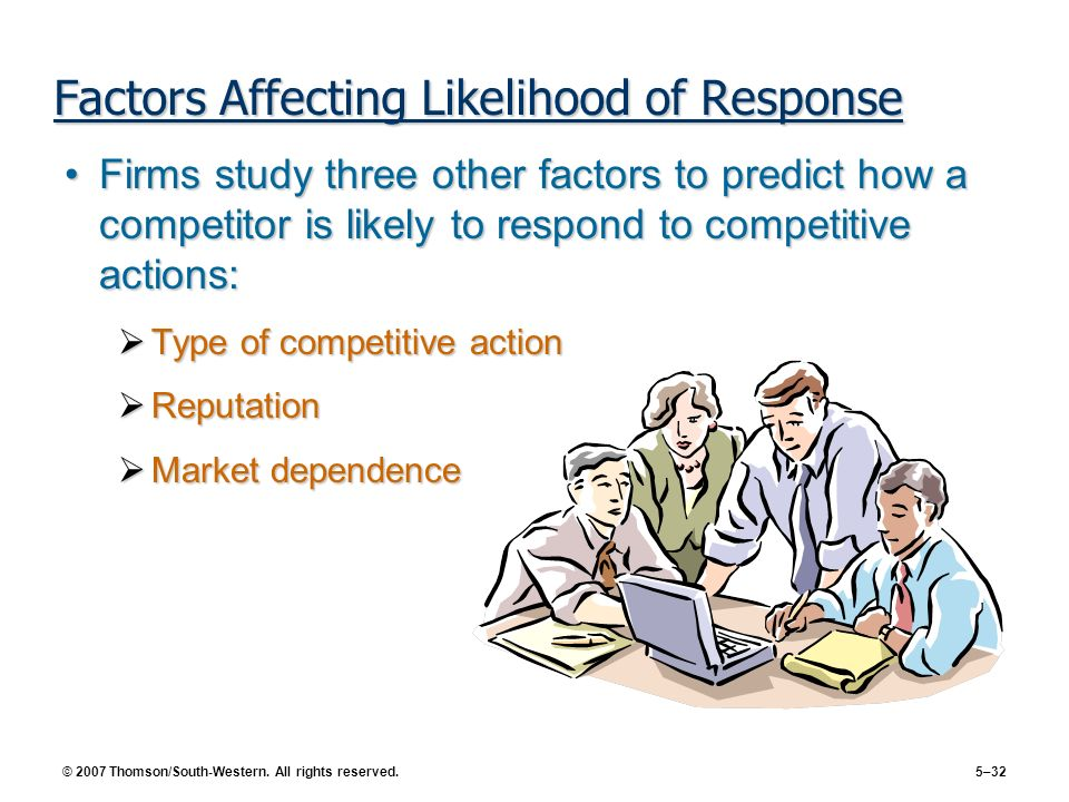 Factors Affecting Likelihood of Response