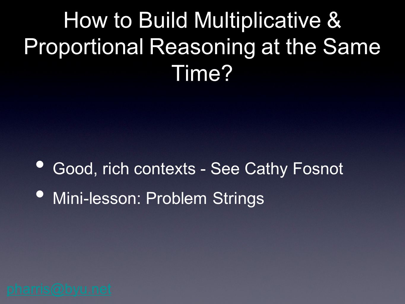 How to Build Multiplicative & Proportional Reasoning at the Same Time