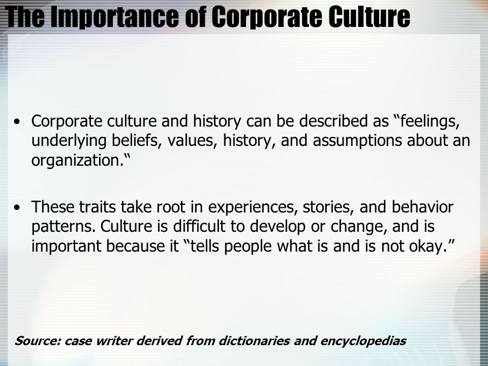 The Importance of Corporate Culture