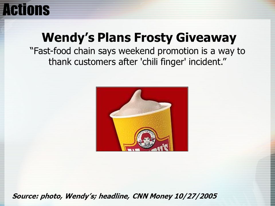 Actions Wendy's Plans Frosty Giveaway