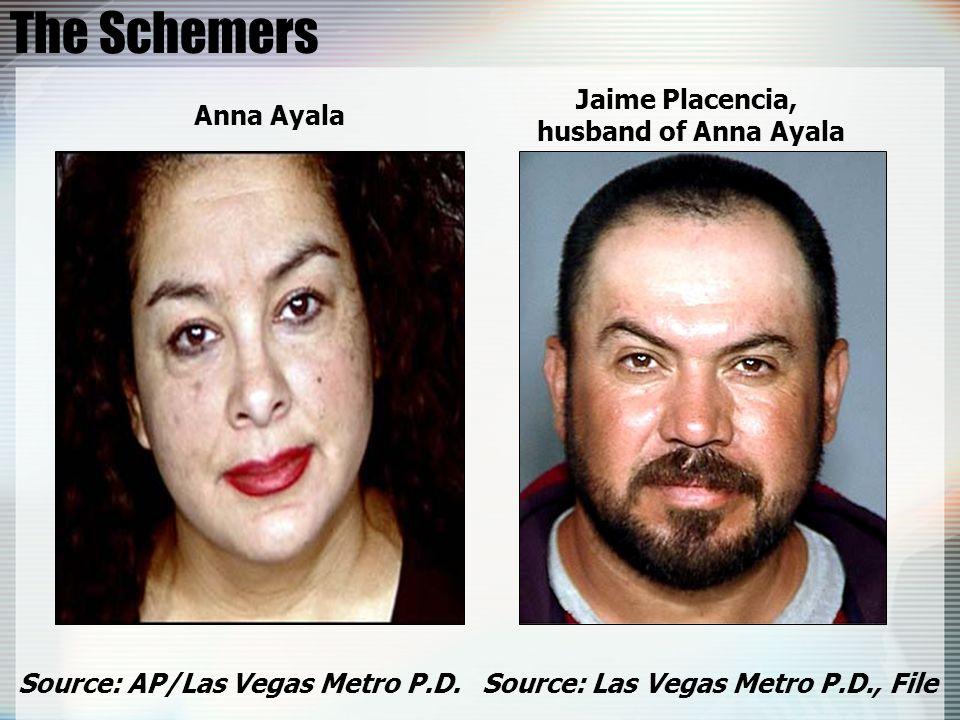 The Schemers Jaime Placencia, husband of Anna Ayala Anna Ayala