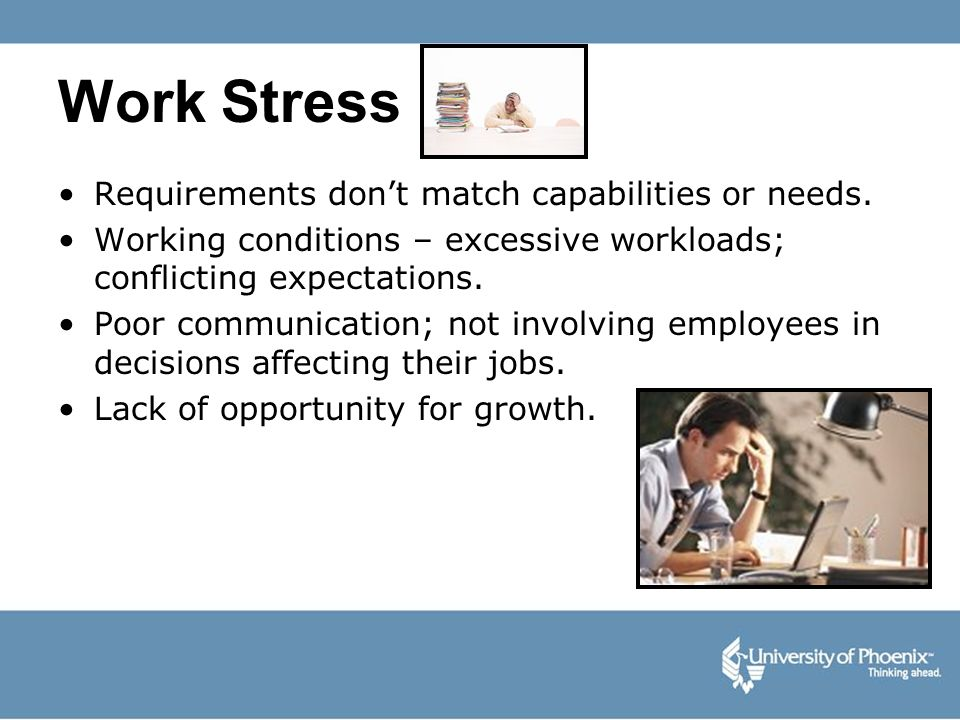 Work Stress Requirements don't match capabilities or needs.
