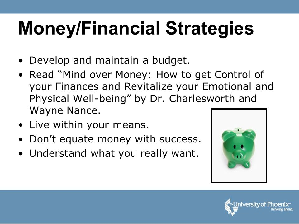 Money/Financial Strategies