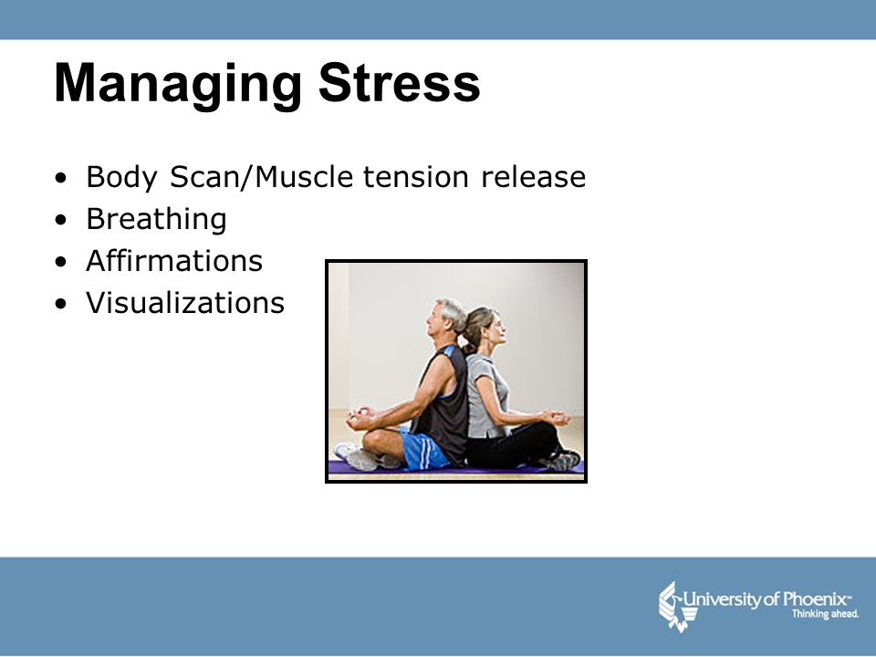 Managing Stress Body Scan/Muscle tension release Breathing