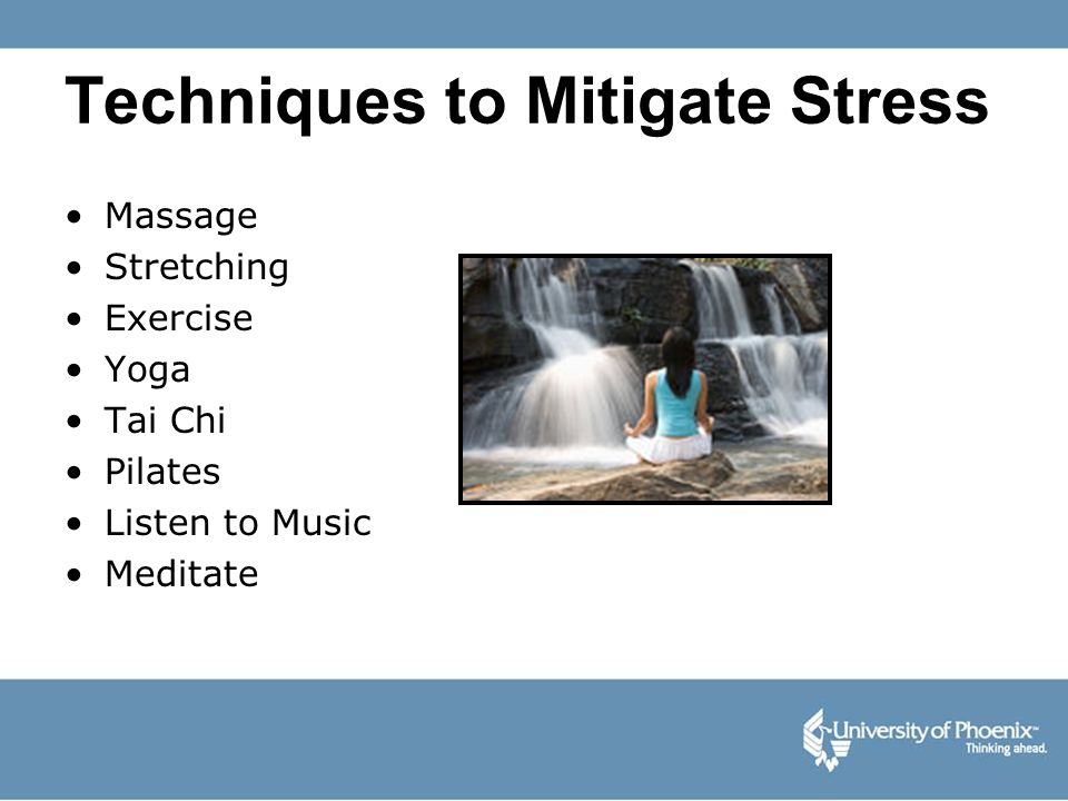 Techniques to Mitigate Stress