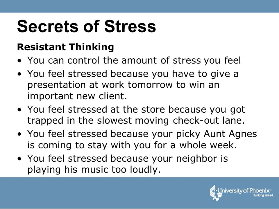 Secrets of Stress Resistant Thinking