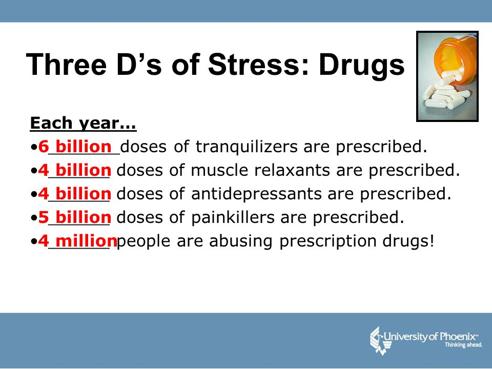 Three D's of Stress: Drugs