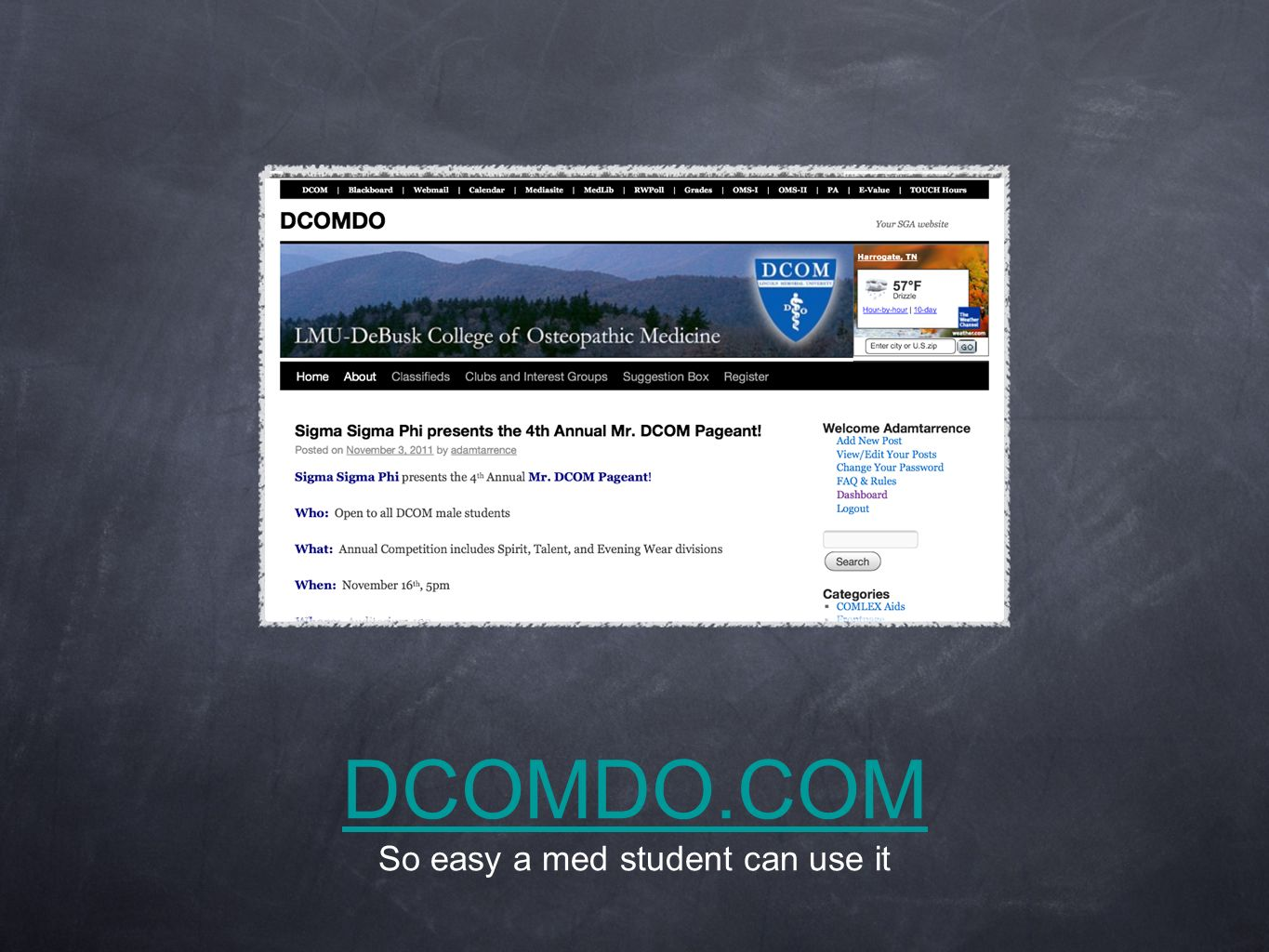 DCOMDO.COM So easy a med student can use it