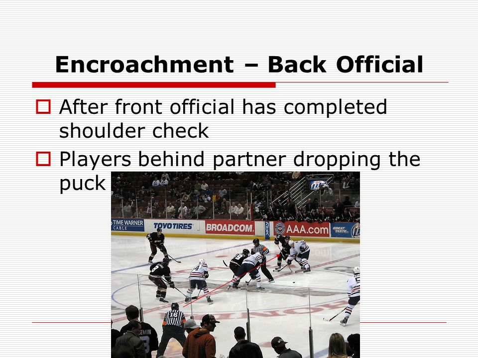 Encroachment – Back Official