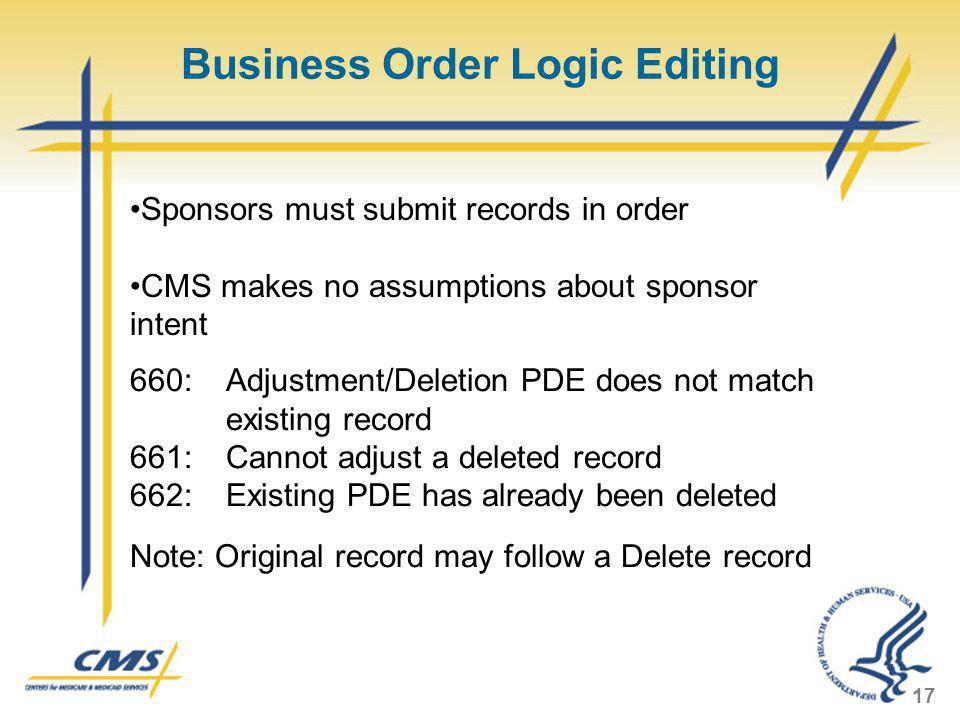 Business Order Logic Editing