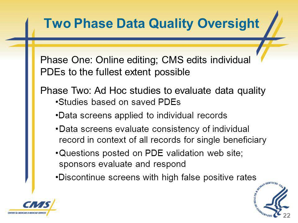Two Phase Data Quality Oversight