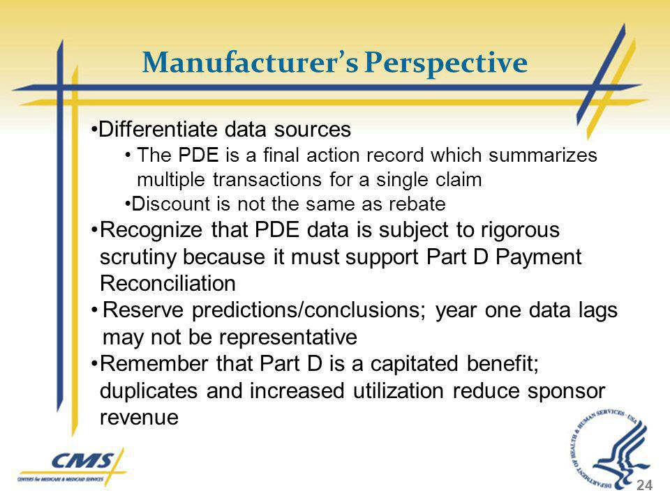 Manufacturer's Perspective