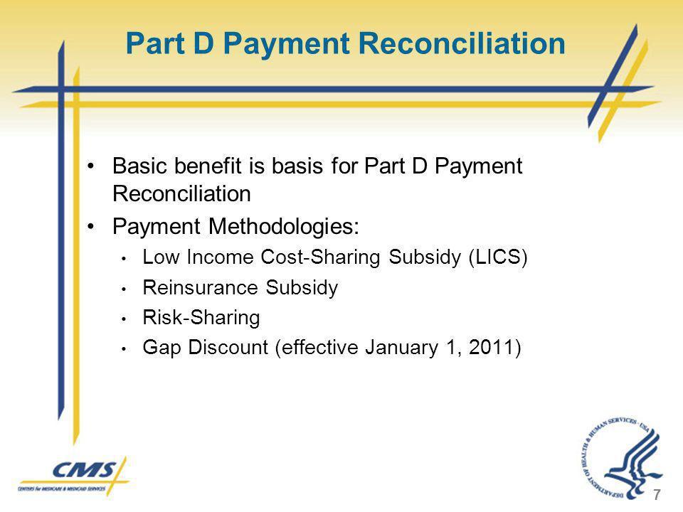 Part D Payment Reconciliation