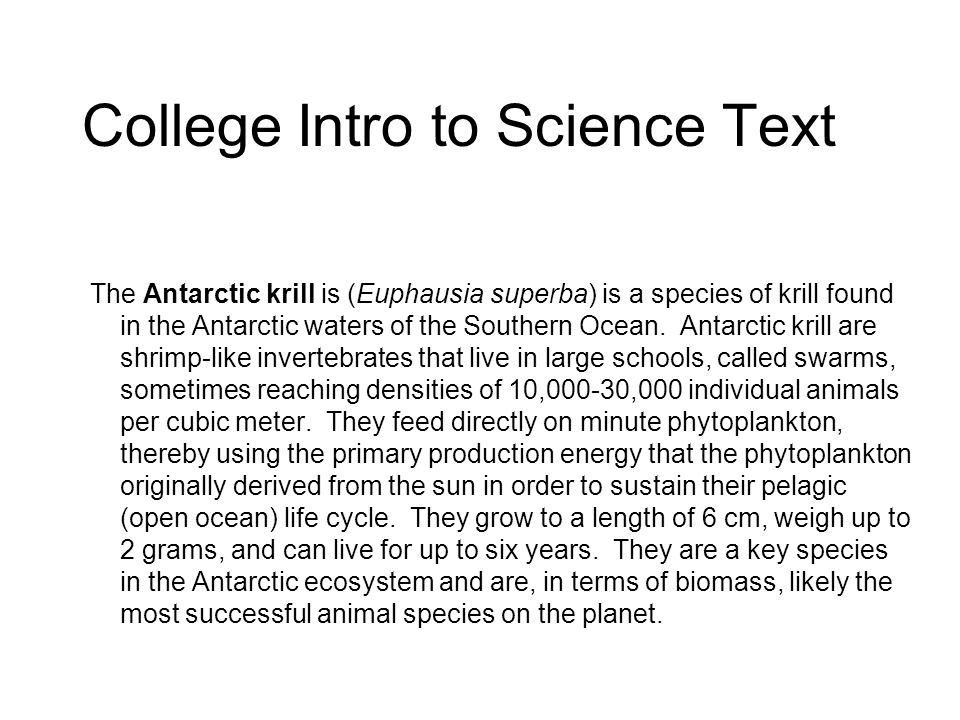 College Intro to Science Text