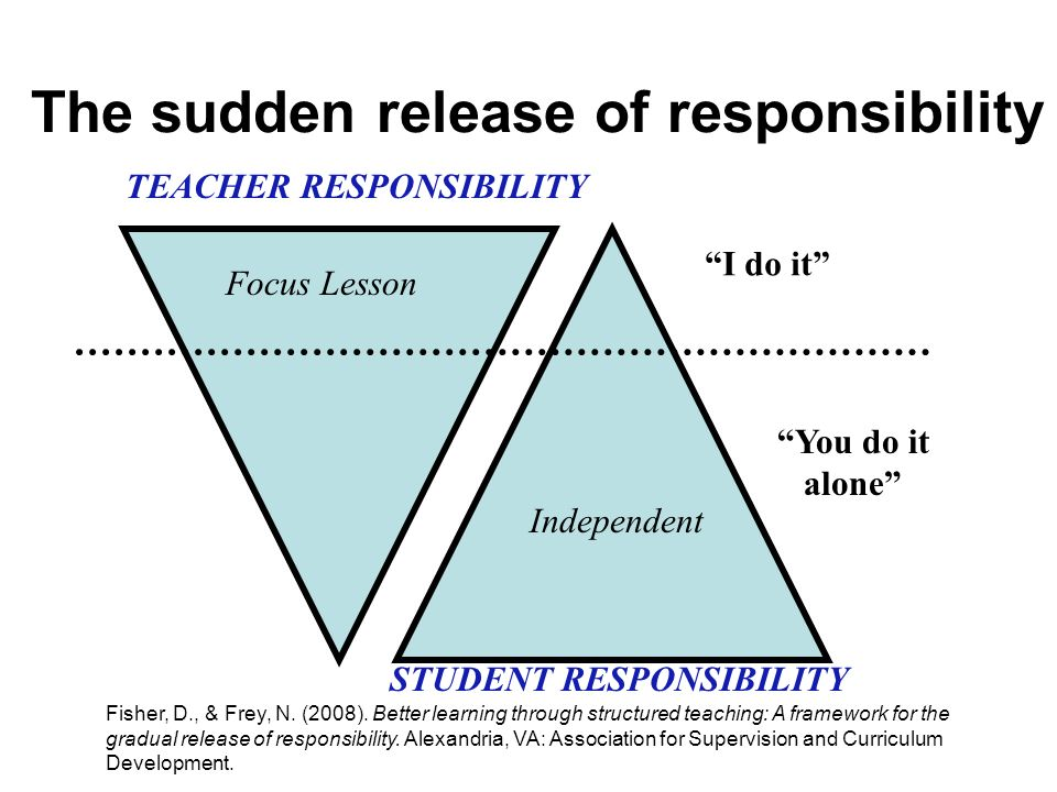 The sudden release of responsibility