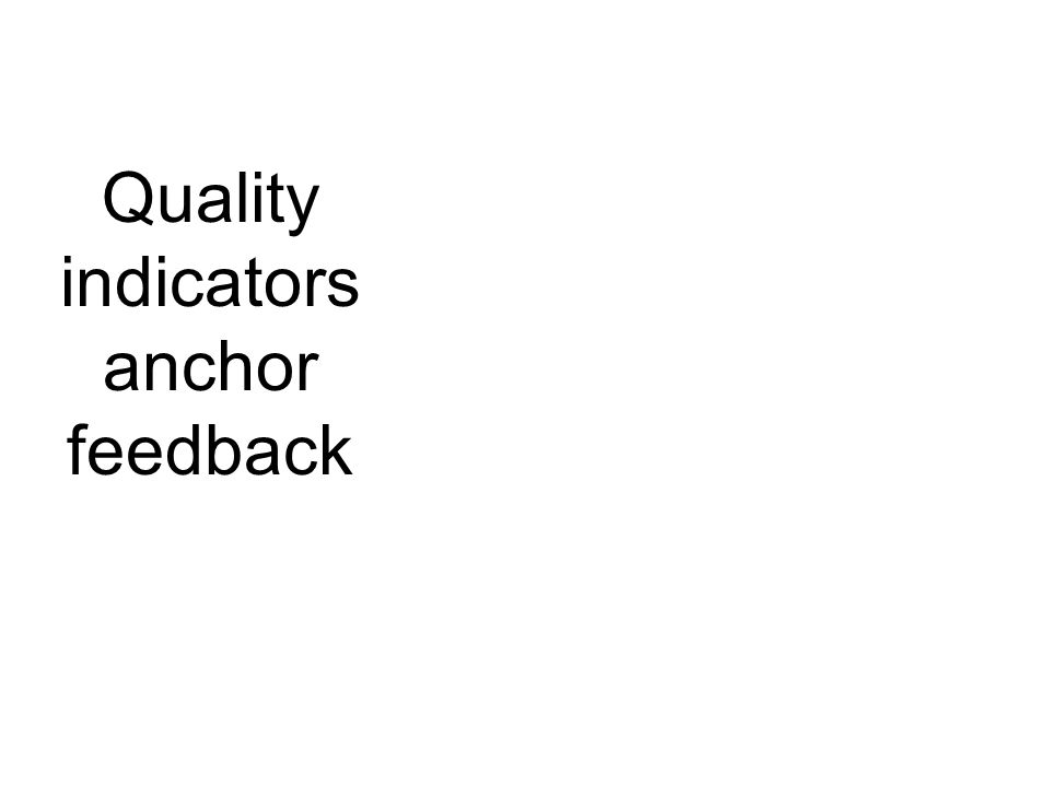 Quality indicators anchor feedback