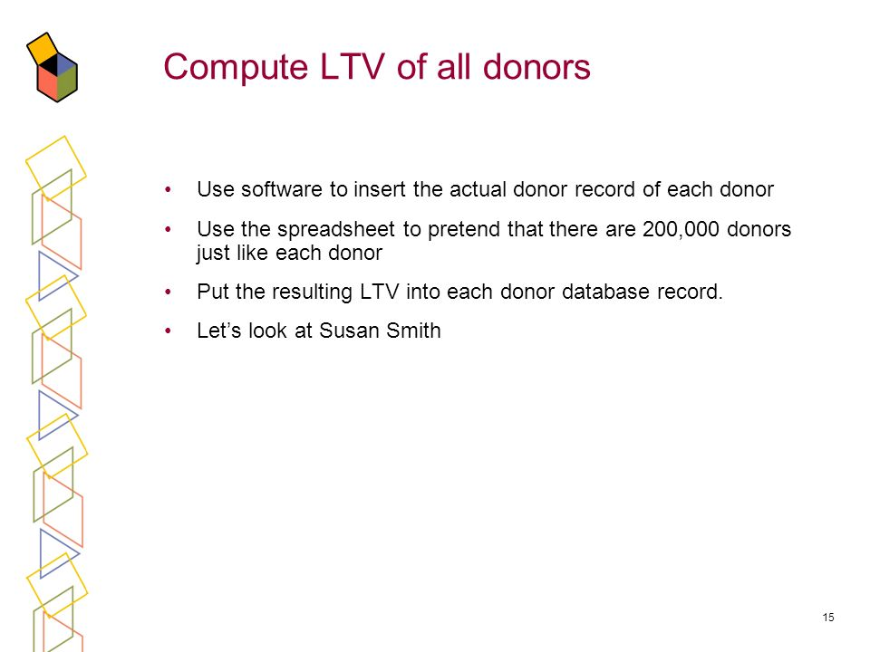 Compute LTV of all donors