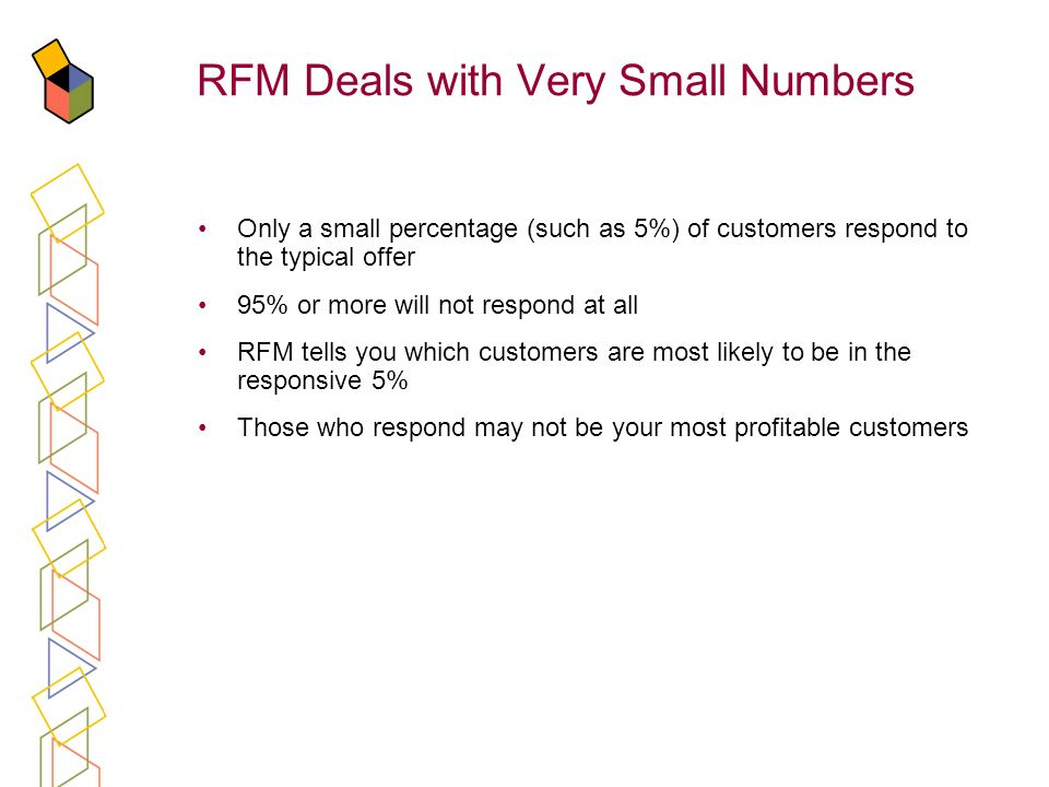 RFM Deals with Very Small Numbers