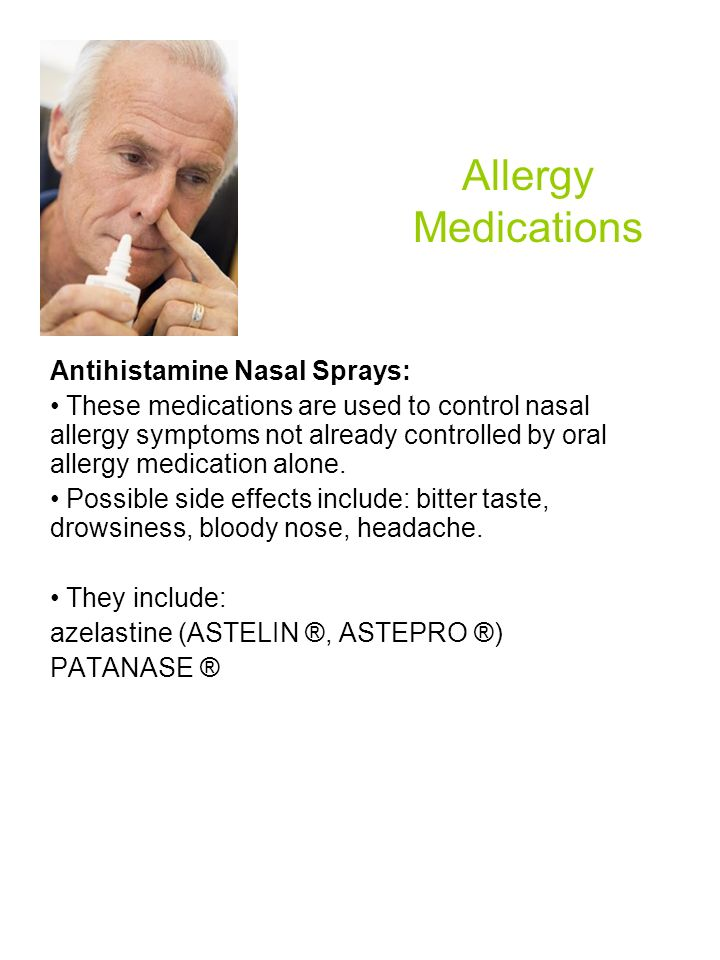 Allergy Medications Antihistamine Nasal Sprays: