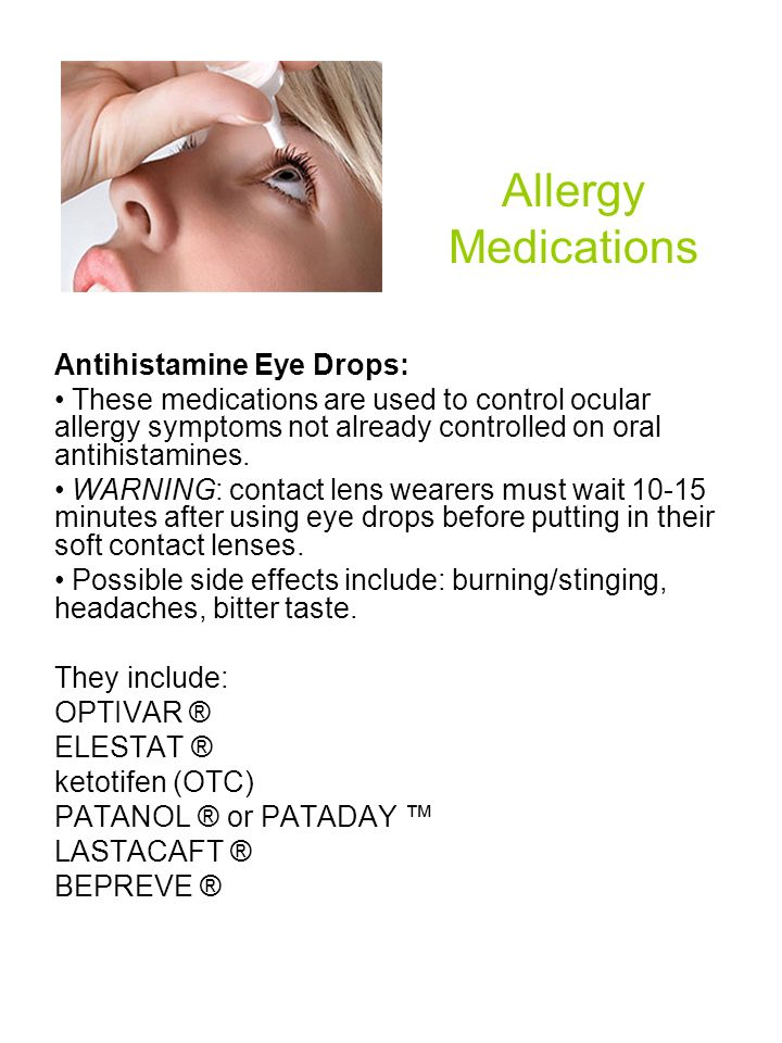 Allergy Medications Antihistamine Eye Drops:
