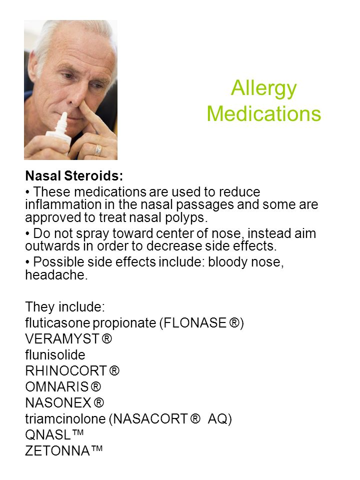 Allergy Medications Nasal Steroids:
