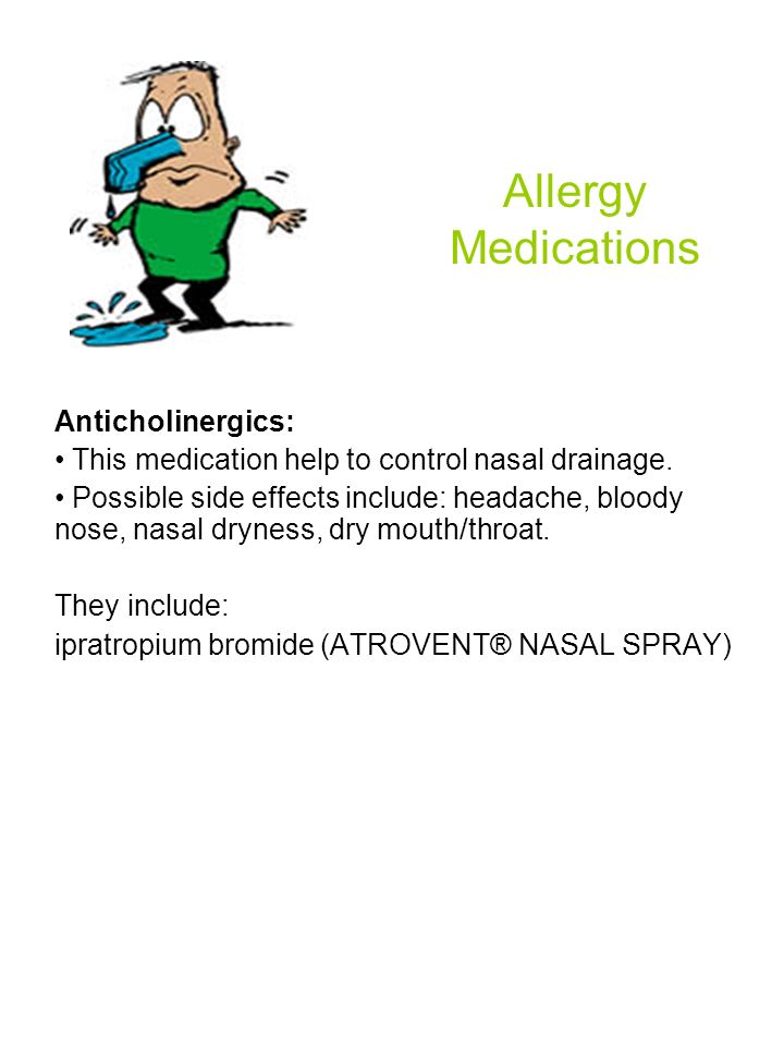 Allergy Medications Anticholinergics: