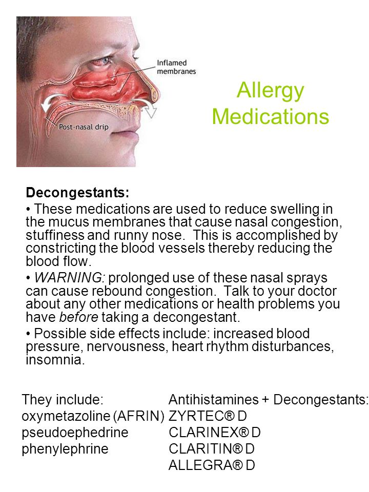 Allergy Medications Decongestants: