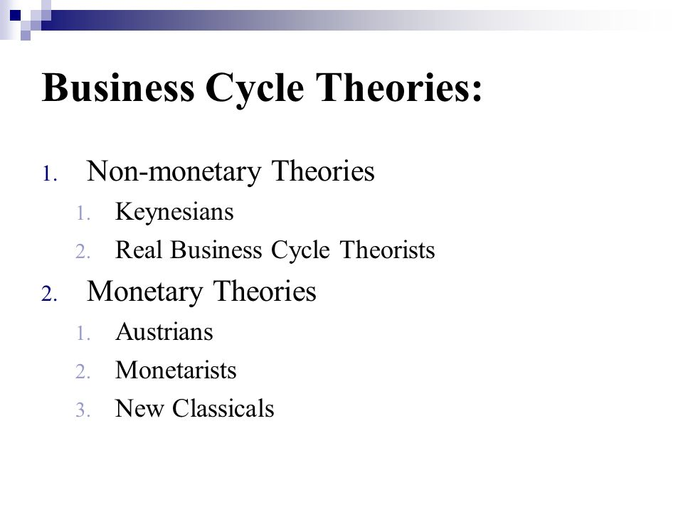 Business Cycle Theories: