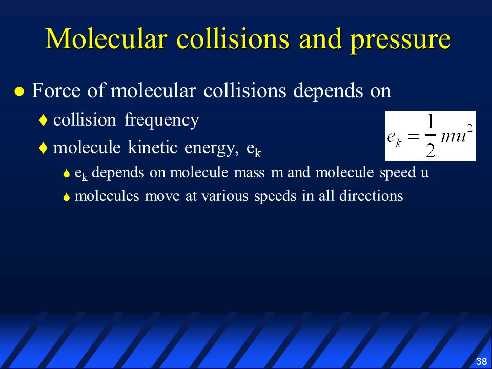Molecular collisions and pressure