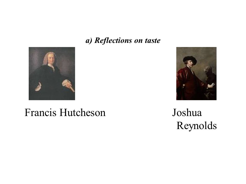 a) Reflections on taste