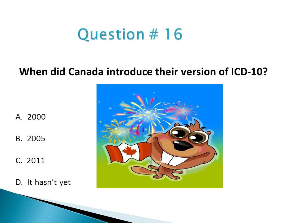 When did Canada introduce their version of ICD-10