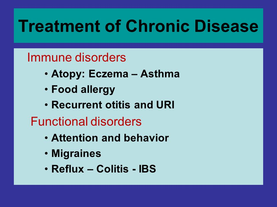 Treatment of Chronic Disease