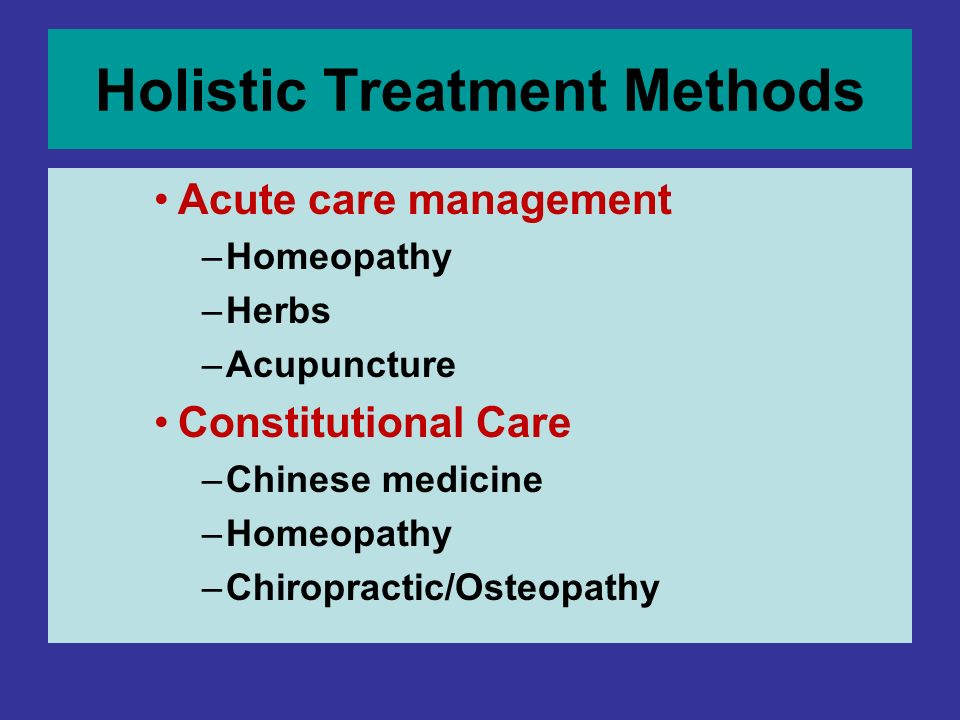 Holistic Treatment Methods