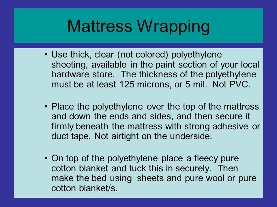Mattress Wrapping