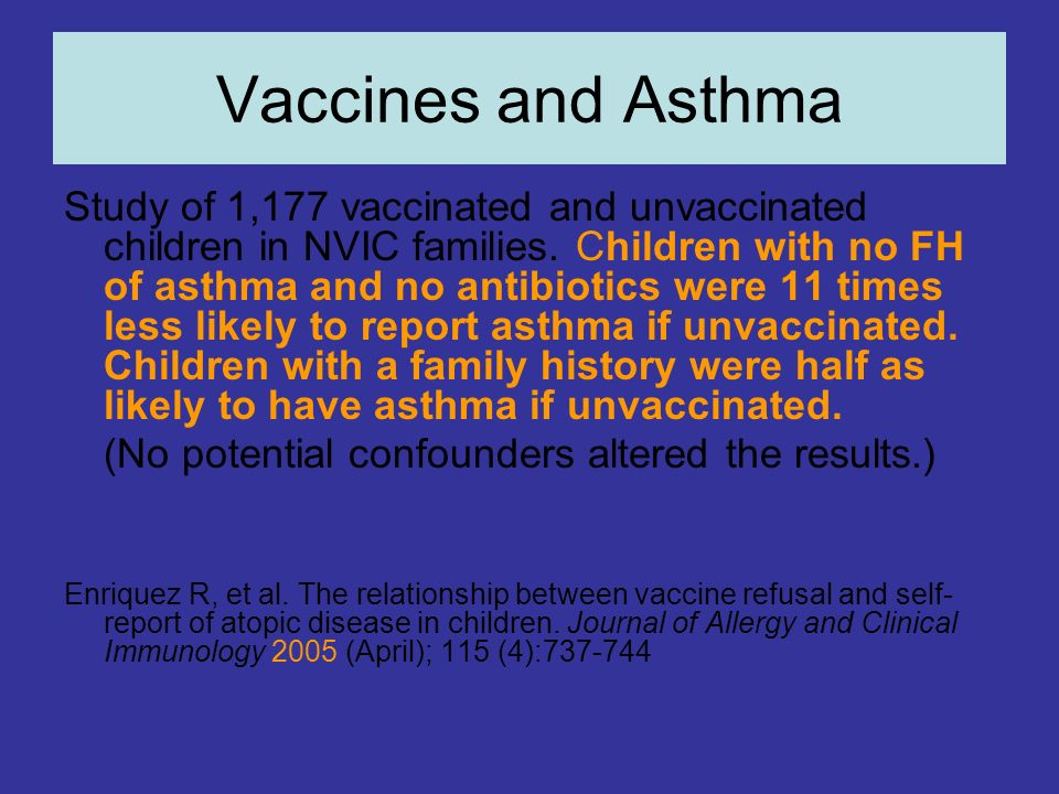 Vaccines and Asthma