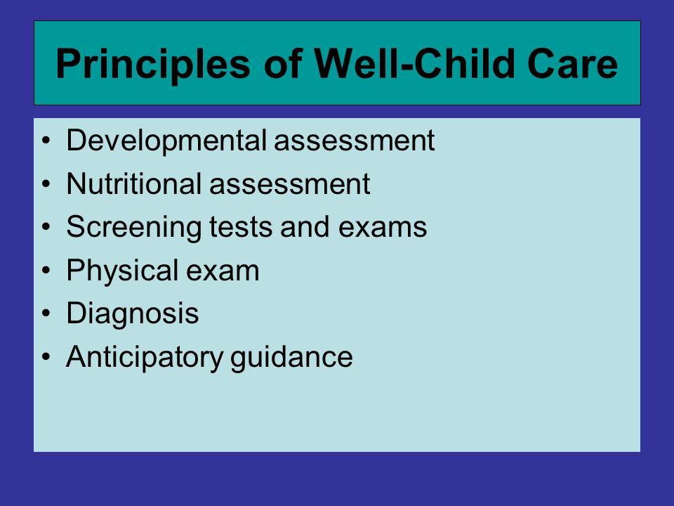 Principles of Well-Child Care