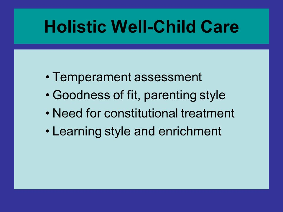 Holistic Well-Child Care