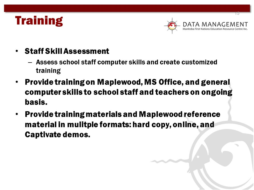 Training Staff Skill Assessment