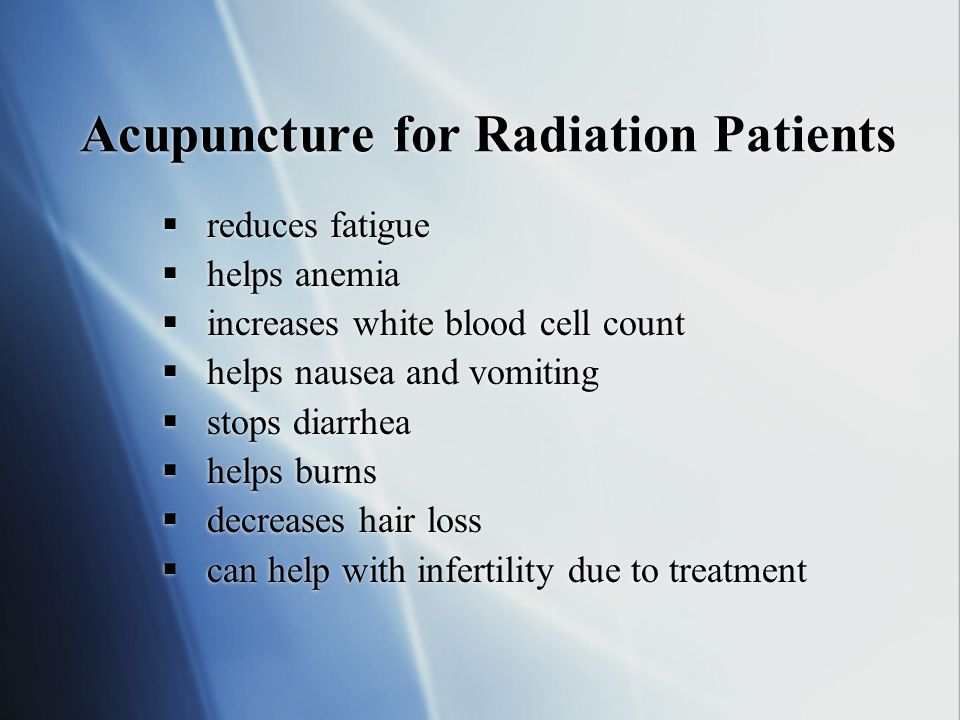 Acupuncture for Radiation Patients