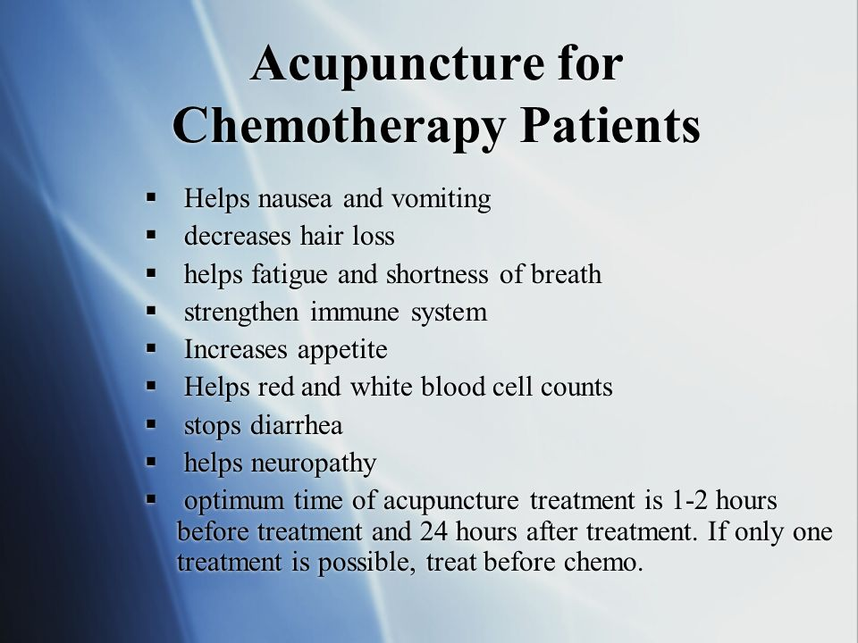 Acupuncture for Chemotherapy Patients