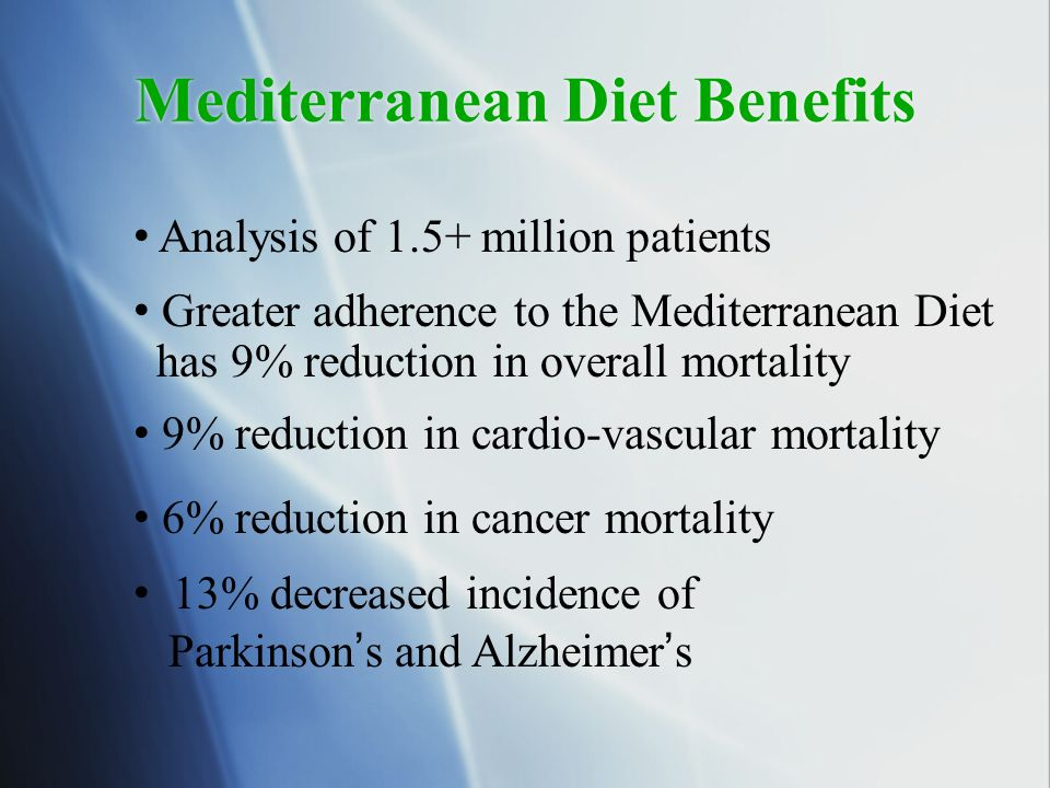 Mediterranean Diet Benefits