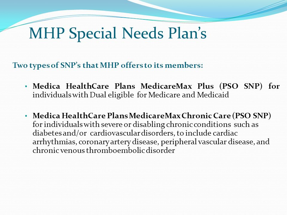 MHP Special Needs Plan's