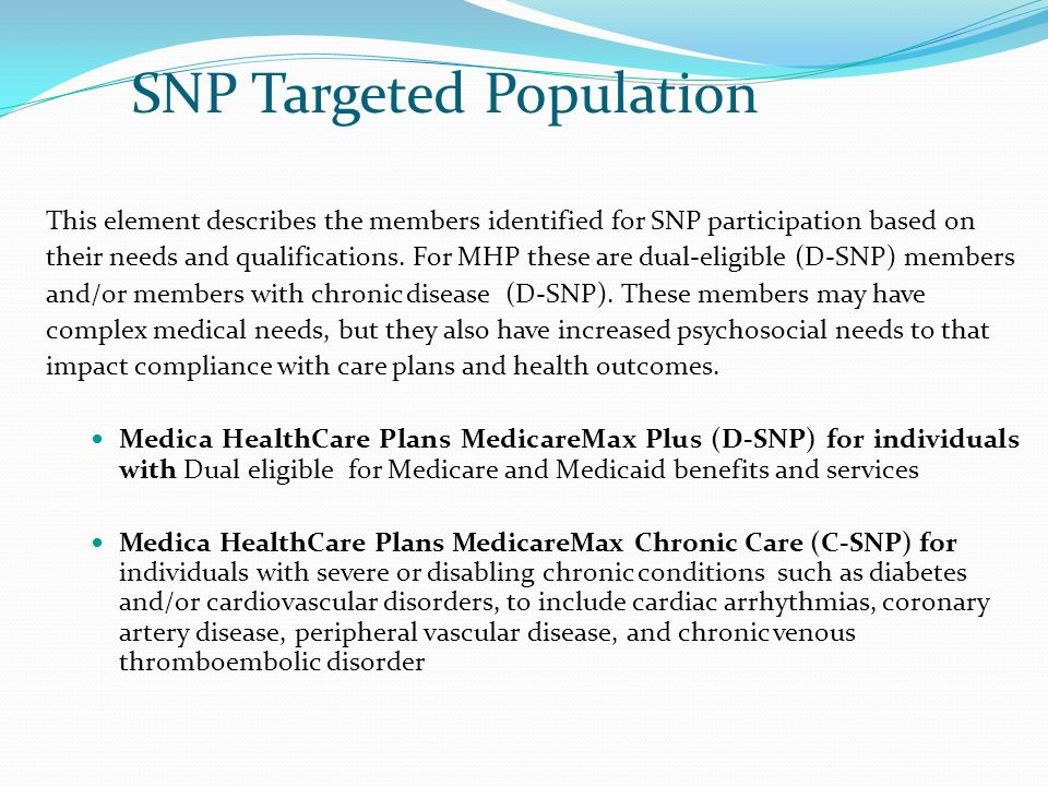 SNP Targeted Population