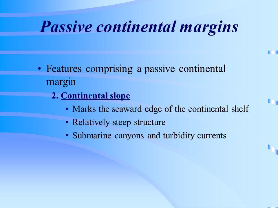 Passive continental margins