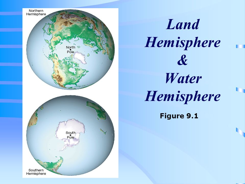 Land Hemisphere & Water Hemisphere
