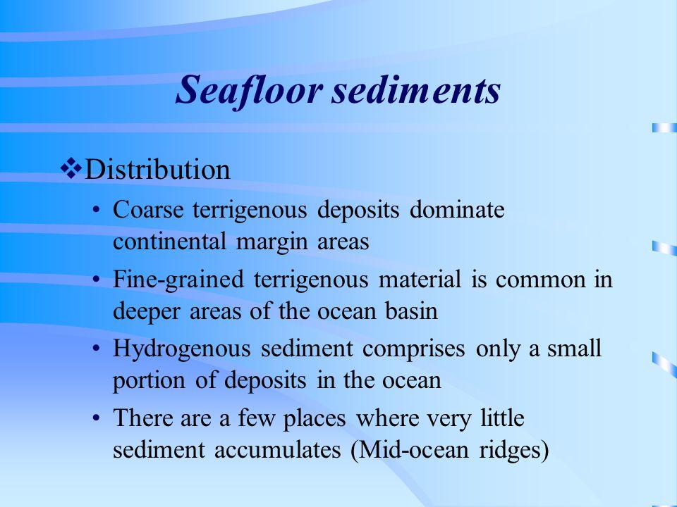 Seafloor sediments Distribution