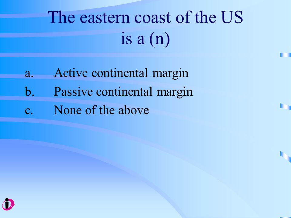 The eastern coast of the US is a (n)