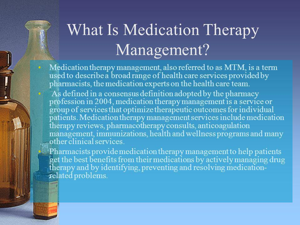 What Is Medication Therapy Management