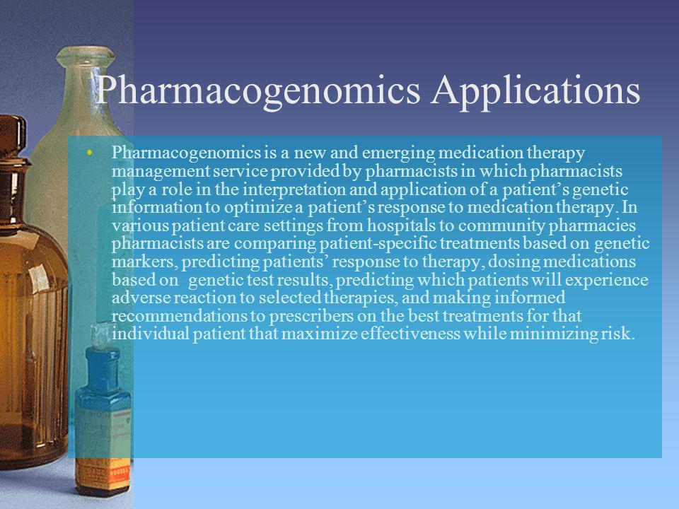 Pharmacogenomics Applications