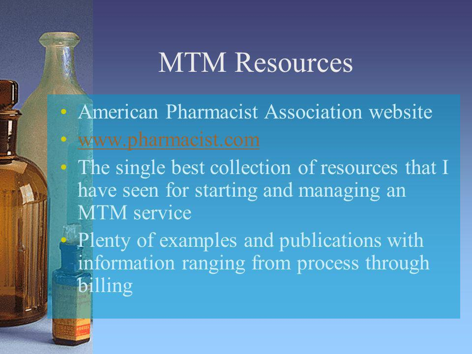MTM Resources American Pharmacist Association website